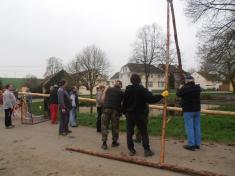 Stavění máje Svinná 2013