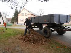 Brigáda - úklid spadaného listí Svinná